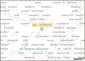 map of Weltenburg