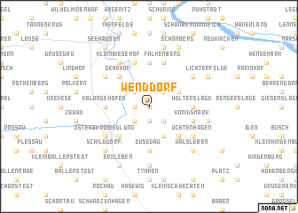 map of Wenddorf