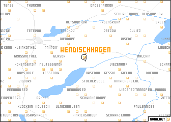 map of Wendischhagen