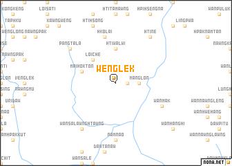 map of Wenglek