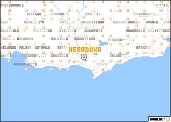 map of Weraduwa