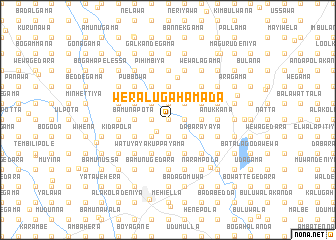 map of Weralugahamada
