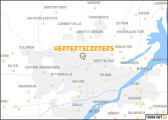 map of Wernerts Corners
