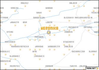 map of Weronika