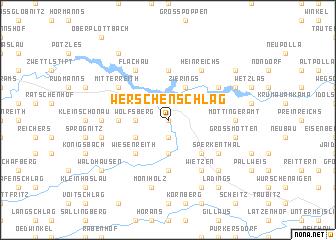 map of Werschenschlag