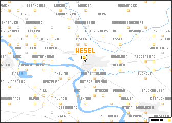 Wesel Germany Map Nona Net