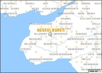 map of Wesselburen
