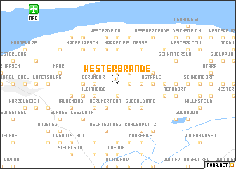 map of Westerbrande