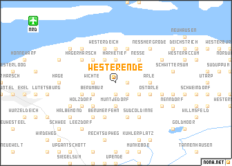 map of Westerende