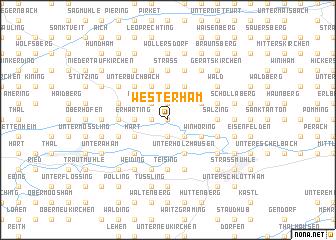 map of Westerham