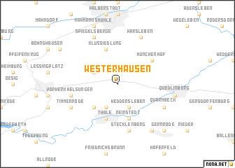 map of Westerhausen