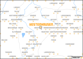 map of Westerhausen