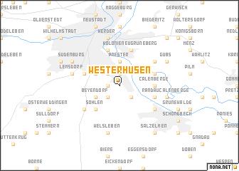 map of Westerhüsen