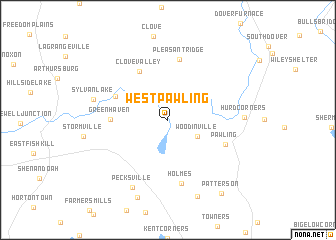 map of West Pawling