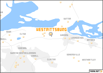 map of West Pittsburg
