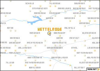 map of Wettelrode
