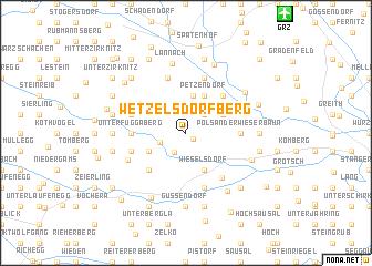 map of Wetzelsdorfberg