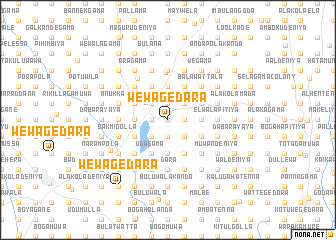 map of Wewagedara