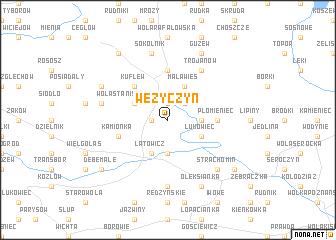 map of Wężyczyn
