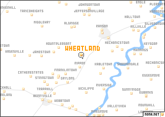map of Wheatland