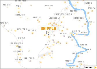 map of Whipple