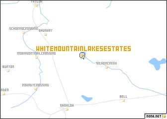 White Mountain Lakes Estates (United States - USA) map - nona.net