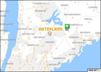 White Plains United States USA map nonanet