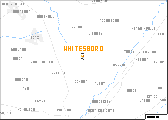 map of Whitesboro