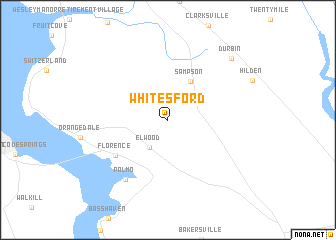 map of Whites Ford
