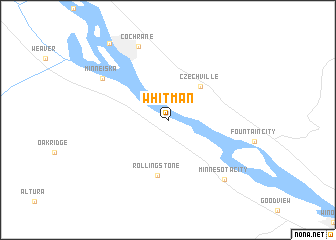 map of Whitman