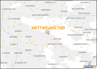 map of Whittier Junction