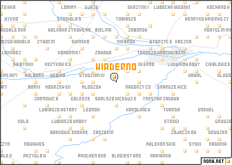 map of Wiaderno