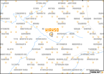 map of Wiawso