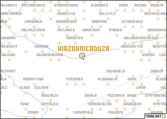 map of Wiązownica Duża