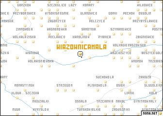 map of Wiązownica Mała