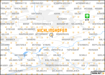 map of Wichlinghofen
