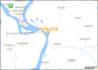 map of Wickliffe