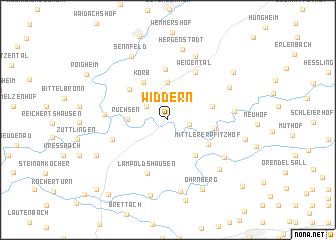 map of Widdern