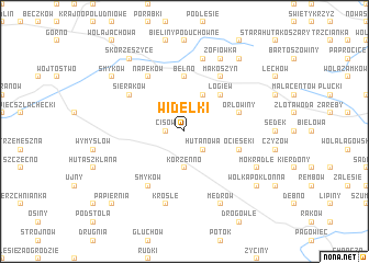 map of Widełki