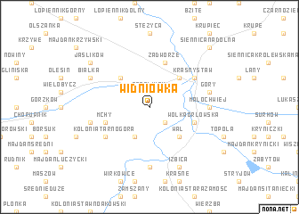 map of Widniówka