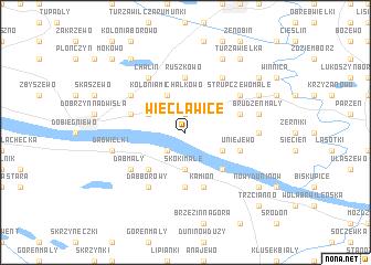 map of Więcławice