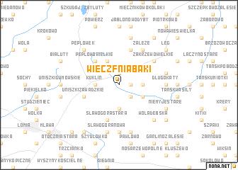 map of Wieczfnia Bąki