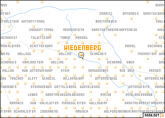 map of Wiedenberg