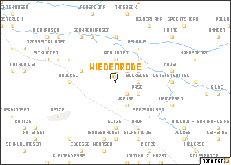 map of Wiedenrode