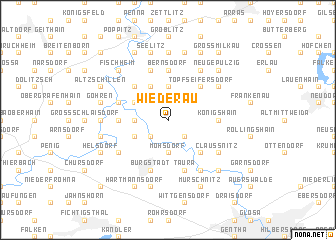 map of Wiederau