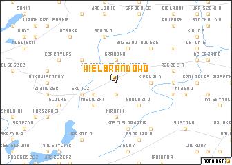 map of Wielbrandowo