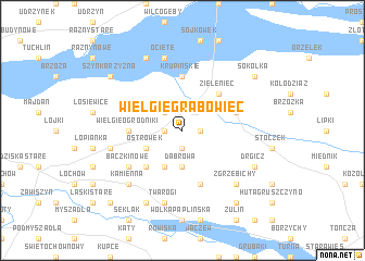 map of Wielgie Grabowiec