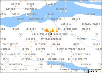 map of Wielgie