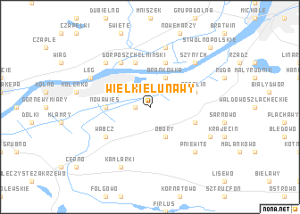 map of Wielkie Łunawy