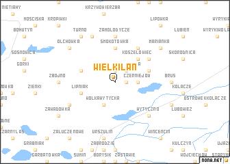 map of Wielkiłan